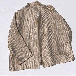 [Eileen Fisher] Gold Crinkle Jacket